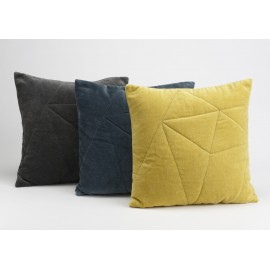 Coussin velou origami