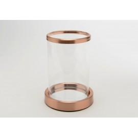 Photophore cuivre miroir