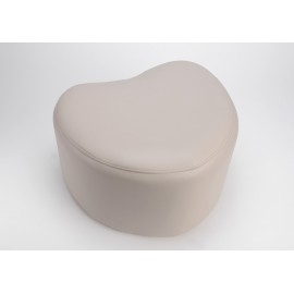 Pouf coeur taupe