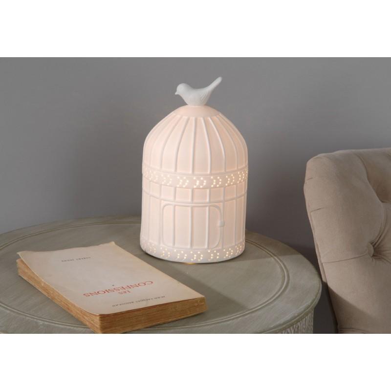 Lampe cage oiseaux - Pomme d Amour