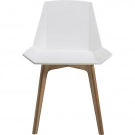 Chaise géométrique blanche