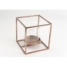Photophore cube cuivre